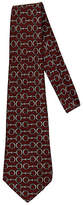 One Kings Lane Vintage Hermès Burgundy & Gray Horsebit Tie