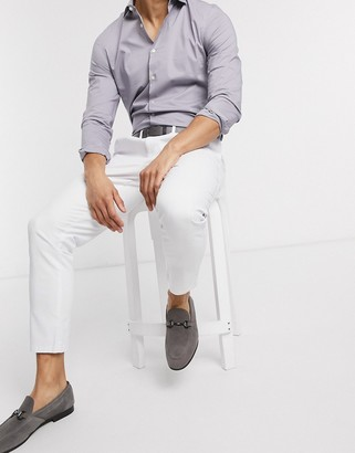 ASOS DESIGN cigarette fit chinos in white