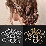 cuhair 50pcs Vintage Punk Women Girl Hair Clip Hair Hoop Hair Ring DIY Hair Accessories