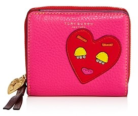 Tory Burch Perry Patchwork Hearts Bifold Wallet