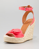 Marc by Marc Jacobs Pretty Knot Neon Canvas Wedge Sandal, Pink