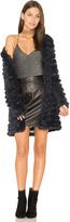 Elliatt Darkness Rabbit Fur Jacket