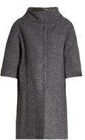 Herno Detachable-sleeved funnel-neck bouclé coat