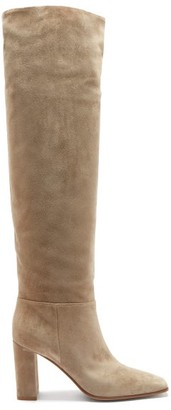 Gianvito Rossi Hynde 85 Suede Knee-high Boots - Brown