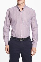 Cutter & Buck Men's 'Epic Easy Care' Classic Fit Wrinkle Resistant Stripe Sport Shirt