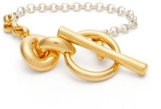 Charlotte Chesnais Halo Sterling-silver And Gold-plated Bracelet - Silver Gold