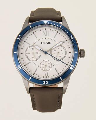 Fossil BQ2341 Rhodium-Tone & Blue Watch