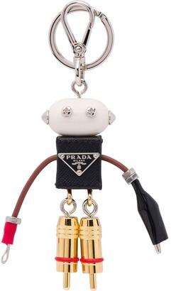 Prada Edward saffiano keychain