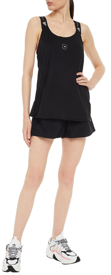 Thumbnail for your product : adidas by Stella McCartney Laser-cut Printed Stretch Tank