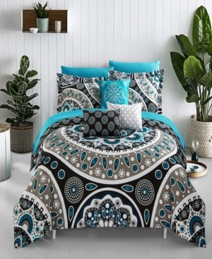 Chic Home Mornington 8 Piece Twin Bed In a Bag Comforter Set Bedding
