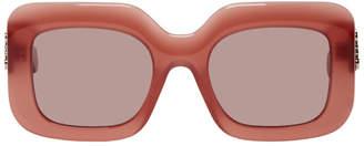 Loewe Red Acetate Rectangular Sunglasses