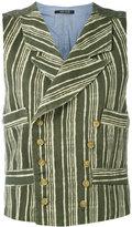 Ermanno Gallamini - striped waistcoat - women - Cotton - M