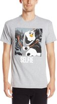 Disney Men's Olaf Selfie T-Shirt, Heather Grey