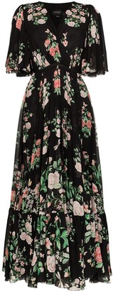 Giambattista Valli Ruffled Floral Print Maxi Dress