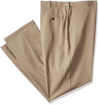 Haggar Men's Big and Tall B&t Cool 18 Pro Classic Fit Flat Front Pant
