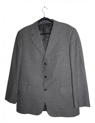 Burberry Grey Polyester Suits