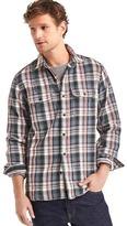 Gap Heavyweight flannel plaid shirt