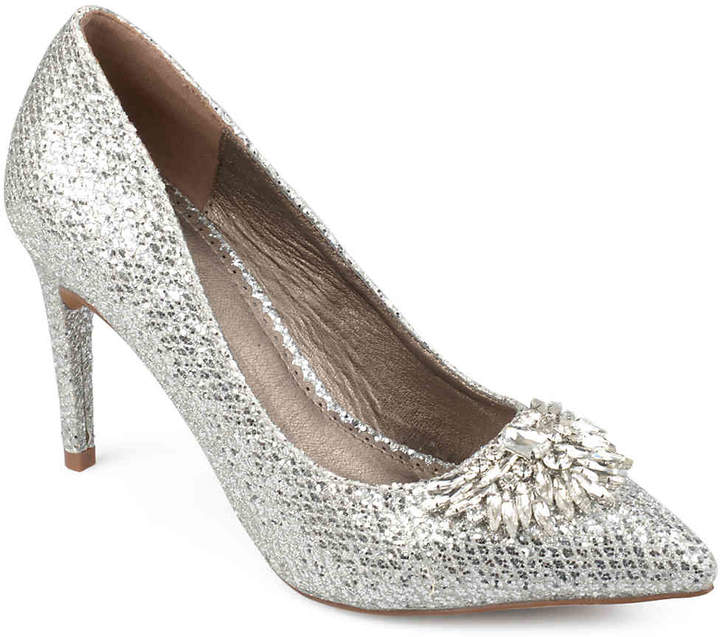 e57ea6b284 Journee Collection Silver Pumps - ShopStyle