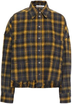 IRO Sarkina Frayed Checked Cotton-flannel Shirt