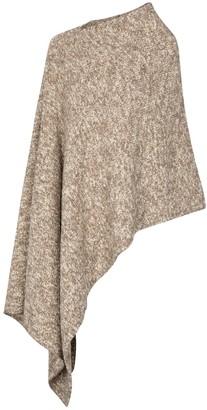Deveaux Liza asymmetric wool-blend poncho