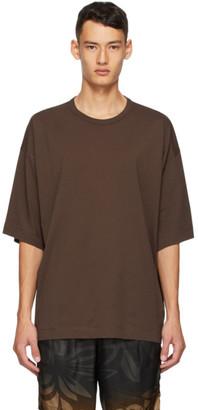 Dries Van Noten Brown Cotton T-Shirt