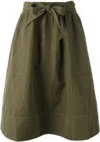 Ulla Johnson drawstring skirt - women - Cotton/Linen/Flax - 6