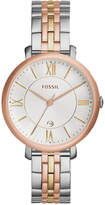 Fossil Women's Jacqueline Tri-Tone Stainless Steel Bracelet Watch 36mm ES3844