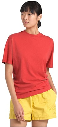 The North Face Woodside Hemp Short Sleeve Top (Sunbaked Red) Women's Clothing