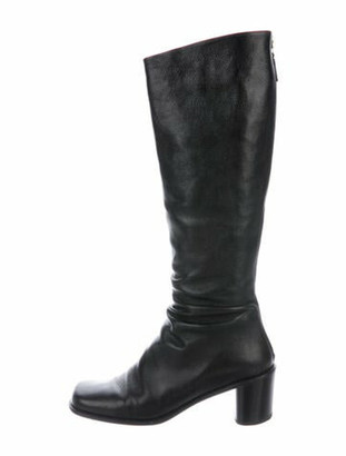 Marc Jacobs Leather Riding Boots Black