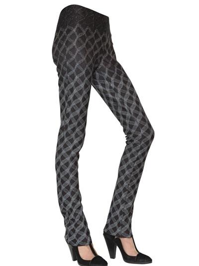 Missoni Geometric Lurex Viscose Knit Trousers