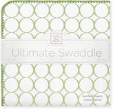 Swaddle Designs Organic Ultimate Receiving Blanket, Mod Circles on Ivory with Jewel Tone Trim