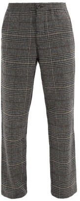 Oliver Spencer High-rise Pleated-front Wool-blend Twill Trousers - Grey Multi