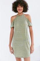 BDG Heathered Cold Shoulder T-Shirt Mini Dress