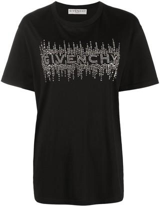 Givenchy rhinestone-embellished logo T-shirt