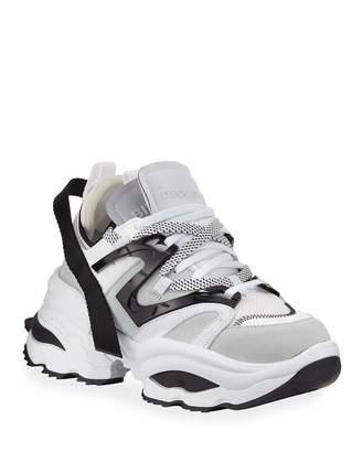 DSQUARED2 Men's Giant Mixed-Media Platform Sneakers