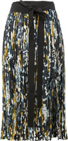 Marni printed pleated skirt - women - Silk - 40