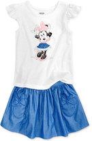 Disney Disney's Minnie Mouse 2-Pc. Graphic Top & Skirt Set, Little Girls (4-6X)