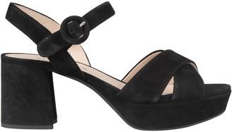 Prada Criss Cross Platform Sandals