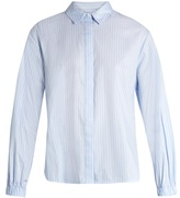 Elizabeth and James Estelle striped cotton-poplin shirt