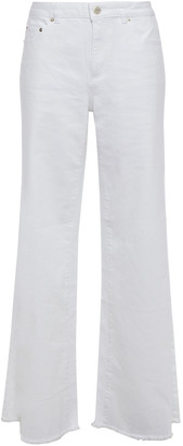 MICHAEL Michael Kors Frayed High-rise Flared Jeans