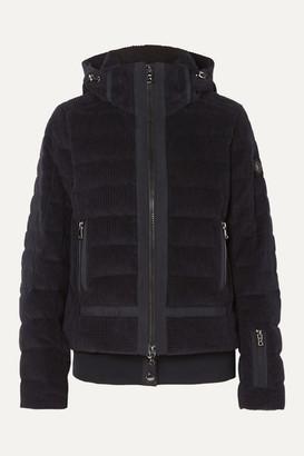 Bogner Muriel Hooded Quilted Cotton-corduroy Down Ski Jacket - Black