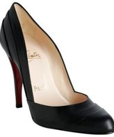 black leather 'Insectika' pumps