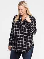 Old Navy Classic Plus-Size Plaid Shirt