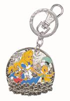Monogram Alice in Wonderland Alice & Mad Hatter Color Pewter Key Chain