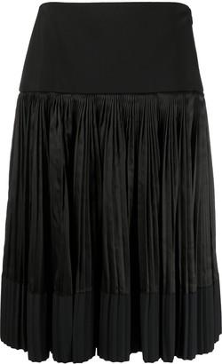 Plan C Elasticated Pleated Skirt