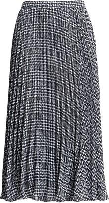 Banana Republic Plaid Pleated Midi Skirt