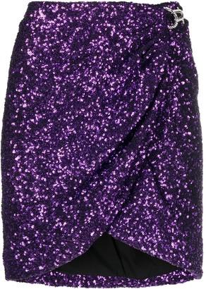 Amen Sequin-Embellished Mini Skirt
