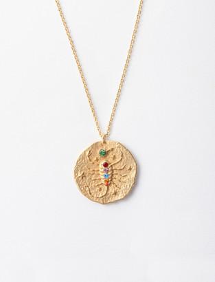 Maje Scorpio zodiac sign necklace