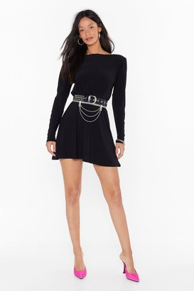 Nasty Gal Womens We'll Never Scoop to Your Level Relaxed Mini Dress - black - 4