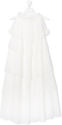La Stupenderia TEEN ruffle flared dress